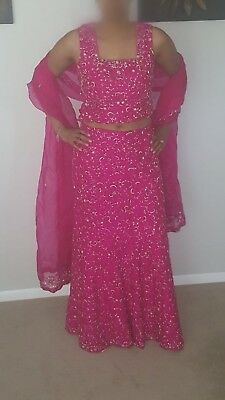 Beautifully embroided Pink designer lengha