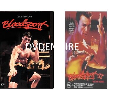 Bloodsport 1 & 2 DVD (2 sep DVD) New Sealed Australia All Regions