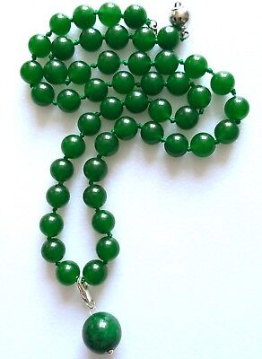 Untreated Green 100% Natural Jade Jadeite Necklace With Pendant