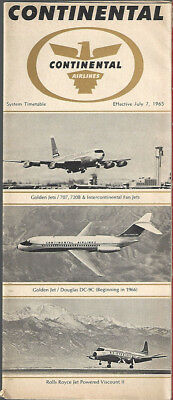 Continental Airlines system timetable 7/7/65 [8081]