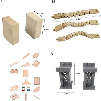 Wooden Train Track Connectors Adapters Expansion Railway Accessories Toys Ornate