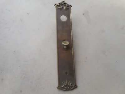 Vintage Solid Brass Door Plate With Thumb Lever