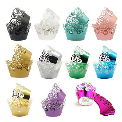 12pc Cupcake Wrappers Cake Paper Cup Lace Liner Baking Cup Muffin Case Halloween
