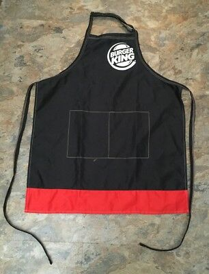 Burger King Logo Kitchen Apron Fast Food Collectible Grilling Work Outfit