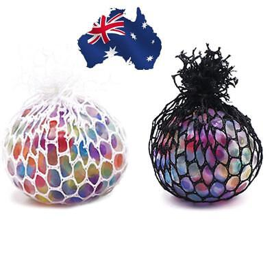 AU Anti Stress Face Reliever Grape Ball Autism Mood Squeeze Relief ADHD Toy Mesh