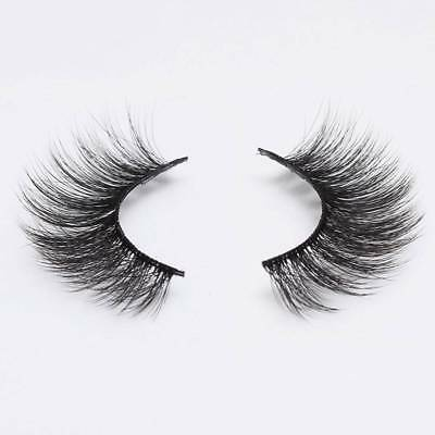 2 Pairs 3D Faux Mink Natural Volume False Eyelashes Thick Long Lashes Extension