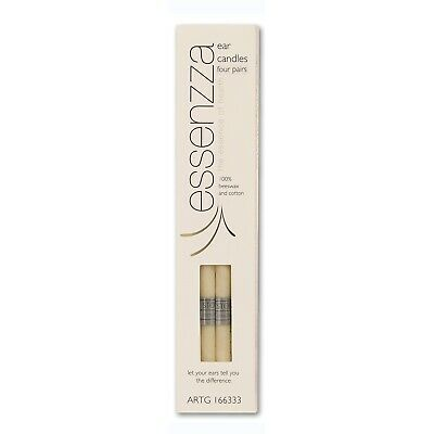 Essenzza Ear Candles 4 Pairs Beeswax Cotton Safety Filter Protective Disk
