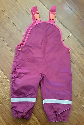 Kids Toddler Winter Outdoor Pants Waterproof Overalls Girls Size 1 (12 -18mths)