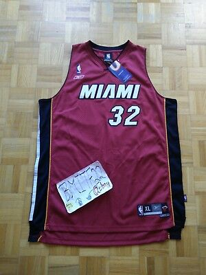 competitive price 04de2 296d1 REEBOK MENS LARGE Shaquille O'Neal Miami Heat Black Sewn ...