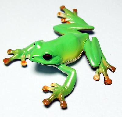 Kaiyodo Natural Monuments of Japan forest green tree frog with book figure new