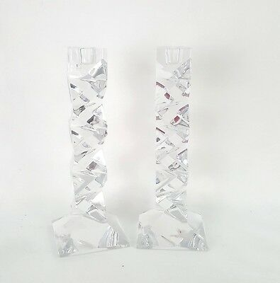 Glass Tall Candlestick Holders for Tapered Candles Heavy Crystal ?