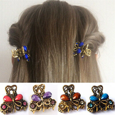 Retro Women Girls Mini Butterfly Hair Clip Resin Hairpins Claw Jewelry newPB