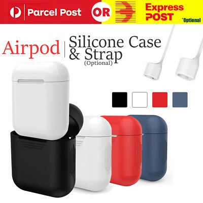 Anti-Lost Strap+Soft Silicone Case Cover For Iphone 7/7P/8/8P Apple Airpods AU