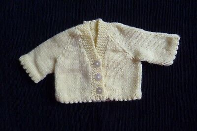 Baby clothes UNISEX BOY GIRL premature/tiny<5lbs/2.3kg yellow cardigan SEE SHOP