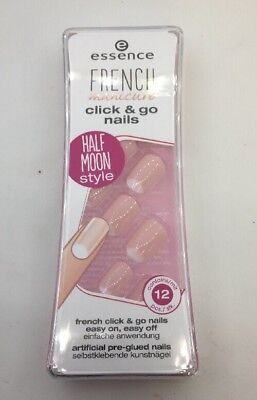 Essence French Manicure Click & Go Nails Half Moon 12stk Künstliche Fingernägel Artificial Nail Tips Health & Beauty