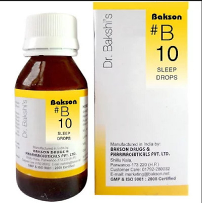 Bakson B10 Sleep Drops (30ml) For Insomnia, Disturbed Sleep, Nervous Exhaustion