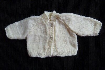 Baby clothes UNISEX BOY GIRL premature/tiny<3.5lb/1.6kg cream cardigan SEE SHOP