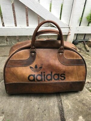 45e2159cc4d Vintage ADIDAS Peter Black Sports Bag RARE Holdall Retro Weekender brown