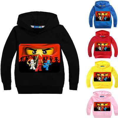 Boys Girls Ninjago Kids Cartoon Sweatshirt Hoodies Pullover Spring Fall Clothing