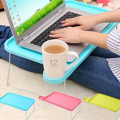 FX- Foldable Portable Tablet Desk Computer Notebook Tray Stand for Bed Sofa Reli