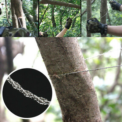 Stainless Steel Ring Wire Hiking Camping Saw Rope Outdoor Survival Emergency NJE