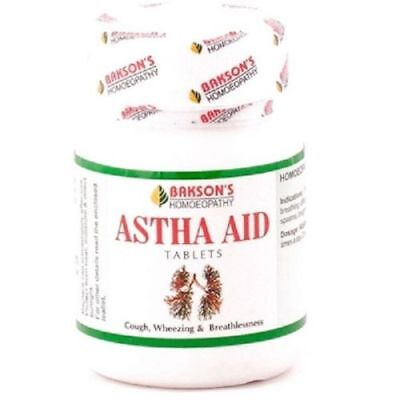 Bakson Astha Aid Tablets 75tab Bronchitis Wheezing with Breathlessness and Cough
