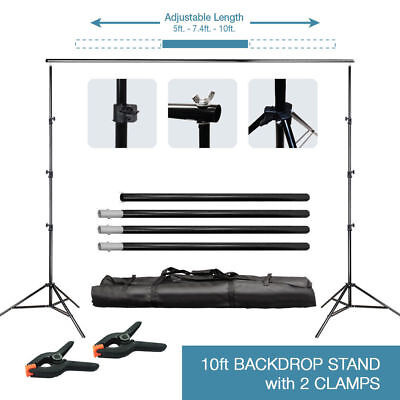 2m Adjustable Photography Background Support Stand Photo Video Backdrop Kit