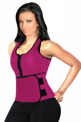 New Rosy Latex Corset with Adjustable Shaper Trainer Belt Size 12