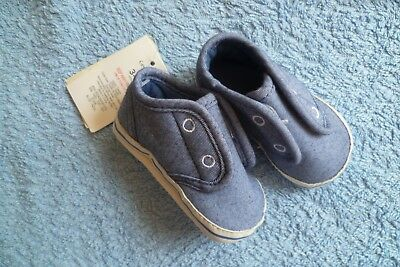 Baby clothes BOY 3-6m NEW! George, touch fix, canvas, blue, padded pram shoes