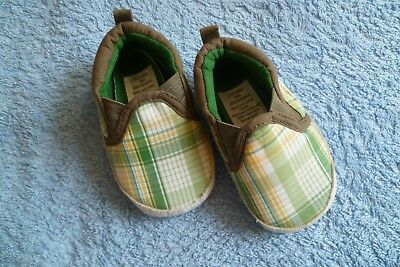 Baby clothes BOY 3-6m George, canvas, green,white,yellow,brown padded pram shoes