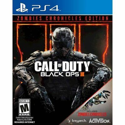 Call of Duty: Black Ops III 3 Zombies Chronicles Edition (PlayStation 4 PS4) New