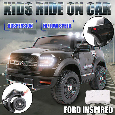 Electric Kids Ride on Car Ford Style Trunk Suspension Toy Battery Remote 12V