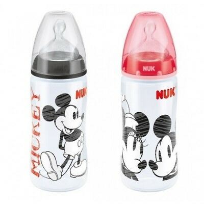NUK Disney First Choice+ Baby Bottle (300ml) 6-18month Black/Red