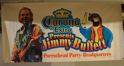 Jimmy Buffett Parrothead Headquarters Vinyl Corona Extra Banner - 70 X 34 Inches
