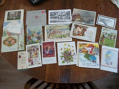 Small Collection Of Vintage Greeting Cards