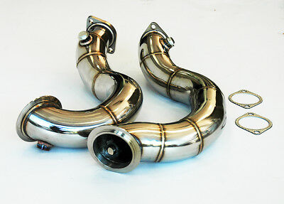 STAINLESS STEEL EXHAUST CAT DELETE DOWNPIPES BMW 135i 335i N54 E90 E92 E82 E91