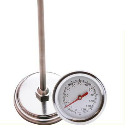 Premium Stainless Steel Garden Compost Soil Thermometer Detector 0℃-120℃