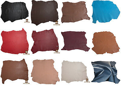 Leather Hide Skin Nappa Various Colour & Sizes Premium Grade 100% Genuine