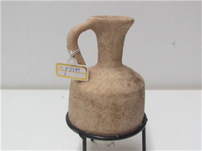 Middle bronze age terra cotta cylindrical juglet