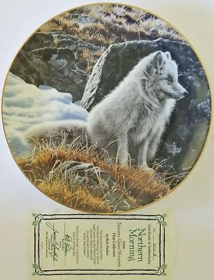 Hamilton Plate Northern Morning Natures Quiet Moments by Parker 9 Plus Inch COA