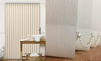 Vertical blackout blinds - Made to measure - Lucca White or Cream Up to 300cms