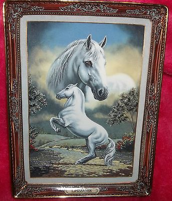 "Franklin Mint horse plate ""The Lipizzaner"""