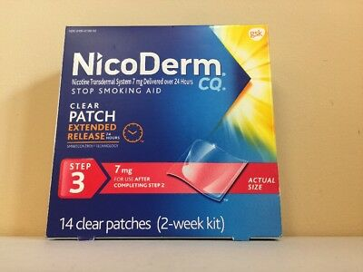 NicoDerm Step 3 Stop Smoking Aid Clear Patch Exp 07/18 Free Shipping 2 Weeks Kit