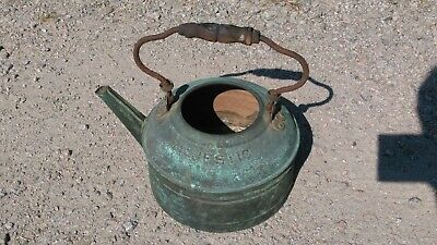 Vintage Copper Majestic Tea Kettle with Wooden Handle