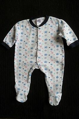 Baby clothes BOY 3-6m  Little Loud soft white/blues/red stars babygrow SEE SHOP!