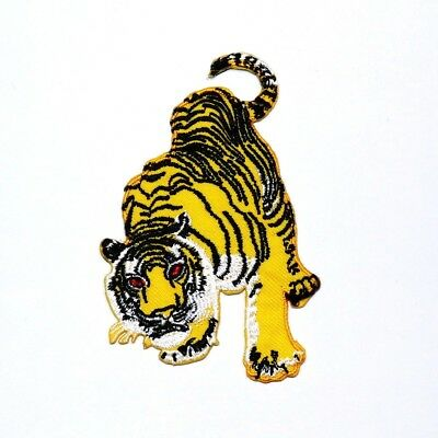 3bf8fa17ff2b6 Bengal Siberian tiger Animal Tattoo Boxing Biker Rock Clothes Jacket Iron  Patch