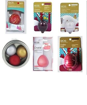 New  EOS Holiday Lip Balm Dazzling Ruby,First Snow,Sugarplum,Watermint and More