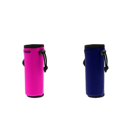 2Pc Neoprene Water Bottle Carrier Insulated Cover Holder Drink Beverage Tote