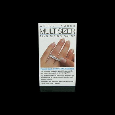 Multisizer white acrylic ring sizing gauge/ tool