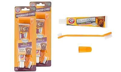 2-Pack Arm & Hammer Advanced Care Dental Toothpaste & Toothbrush Kit for Dogs